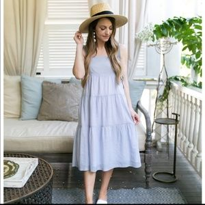 Madewell marcelline tiered striped dress